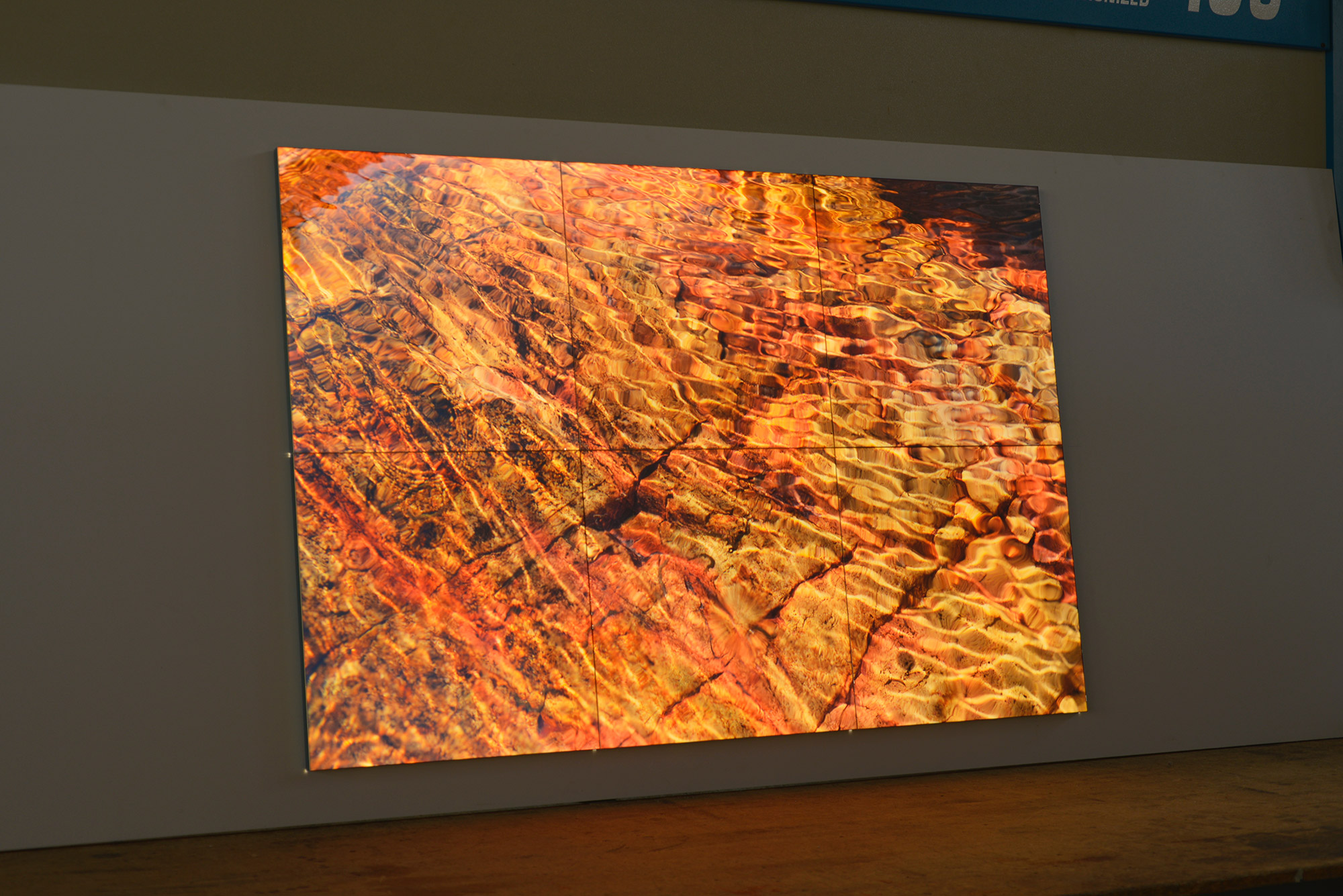 Light Q Box modular light luminous panel for interiors by Simplex Srl