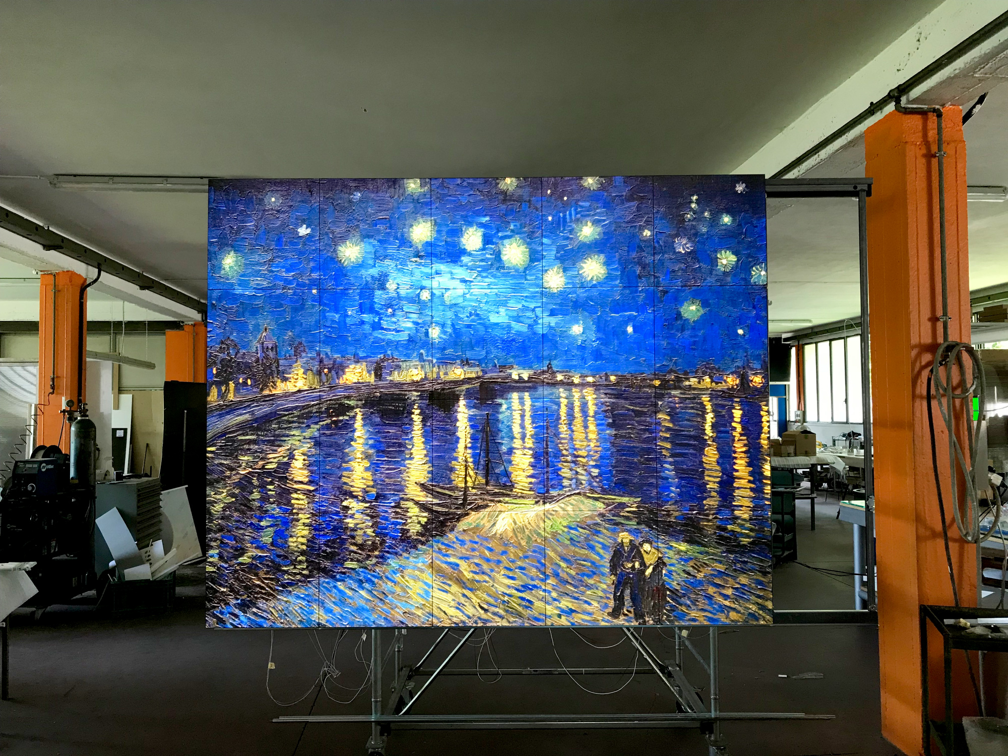 Simplex Art Box - backlit artwork without frame - Made in Italy